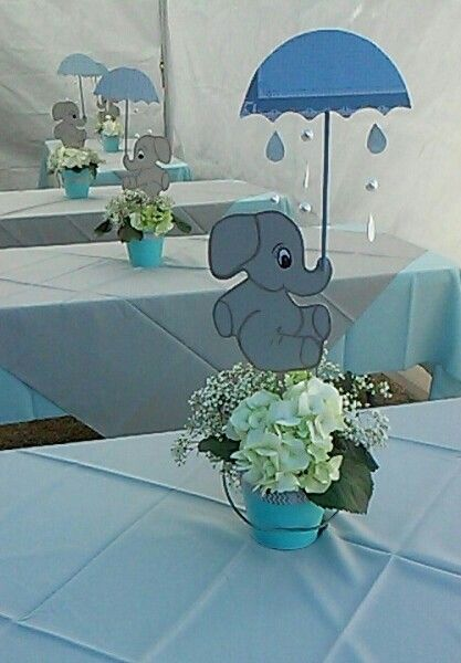 My centerpiece,baby shower elephant theme | Elephant baby shower .