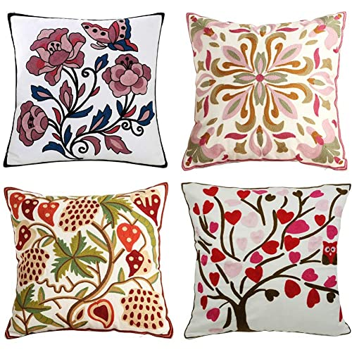 Embroidery Pillow Cover: Amazon.c