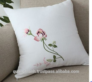Hand Embroidery Cushion Cover - Buy Handmade Embroidery Cushion .