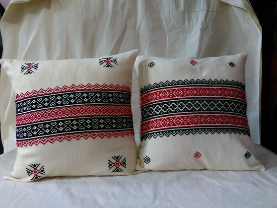 Toda Embroidered Cushion Covers - Picture of Green Shop, Kotagiri .
