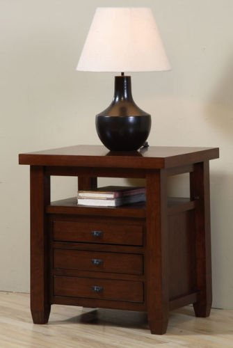 Amazon.com: Navigator Walnut Cherry End Table. This Beautiful .