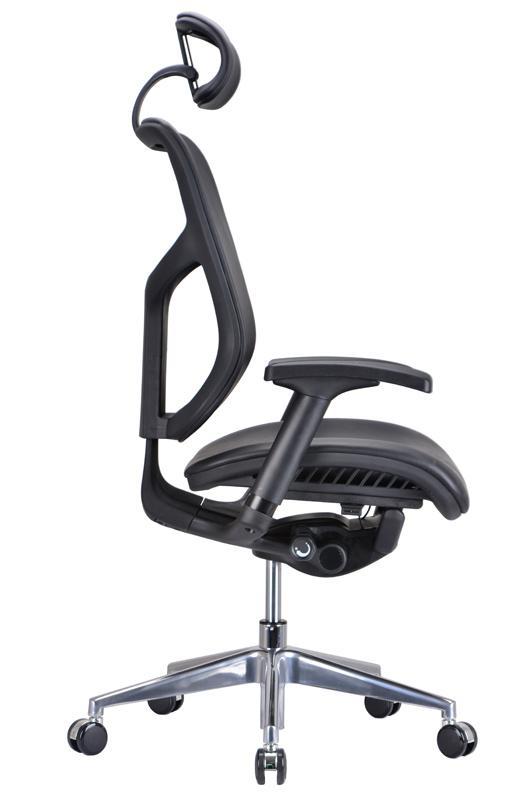 Modrest Watson Modern Black Leather Office Chair - Ergonomic .