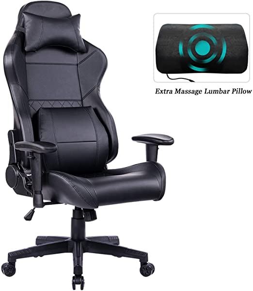 Amazon.com: HEALGEN Gaming Office Chair with Large Lumbar Support .