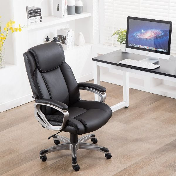 Shop for CANMOV Ergonomic High Back Leather Office Chair, Thick .