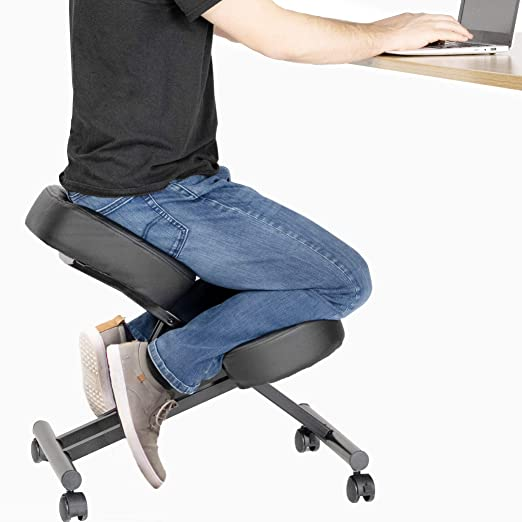 Amazon.com: DRAGONN Ergonomic Kneeling Chair, Adjustable Stool for .