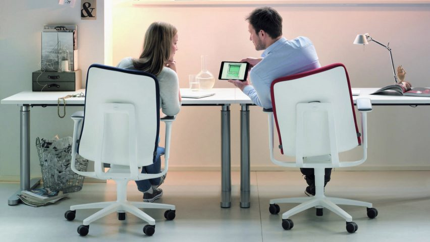 "Wilkahn AT 187 chair promotes ""dynamic sitting"" to prevent backach"