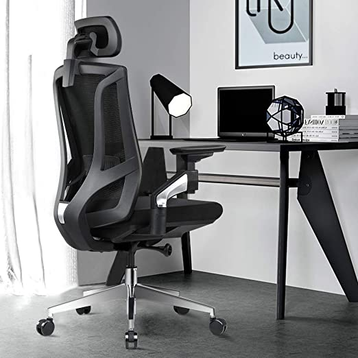 Amazon.com: Ergonomic Office Desk Chair High Back Mesh Desk Chair .