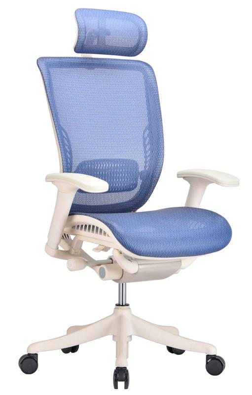 Ergonomic Adjustable Office Chair In Blue Mesh - Ergo Office Chai