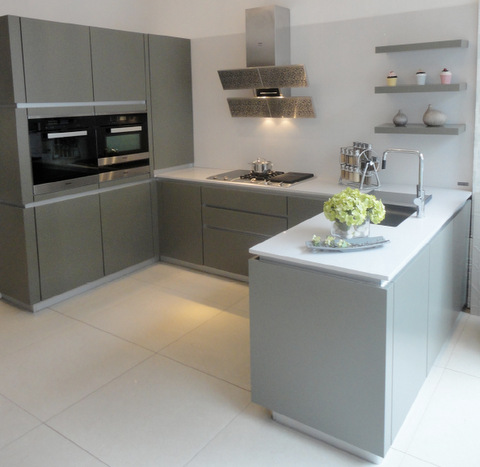 Ex-display Zeyko Horizon Artichoke Kitchen and Worktops with .