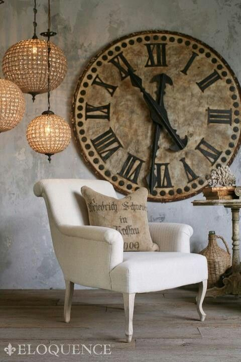 The impact of using large clocks in decorating | Oversized clocks .