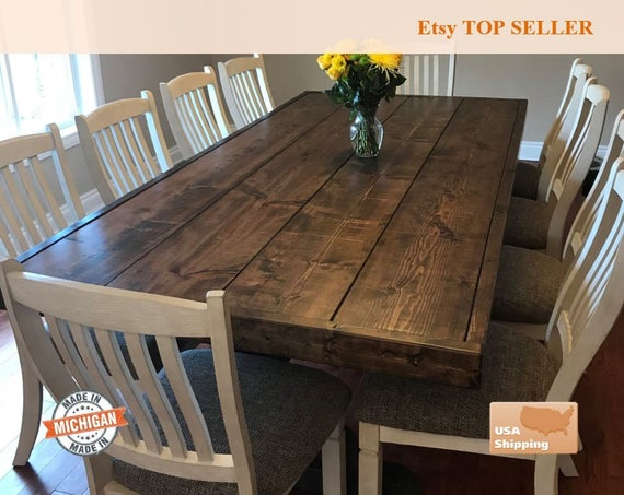 Farm Table Farmhouse Table Trestle Table Dine Room Table | Et