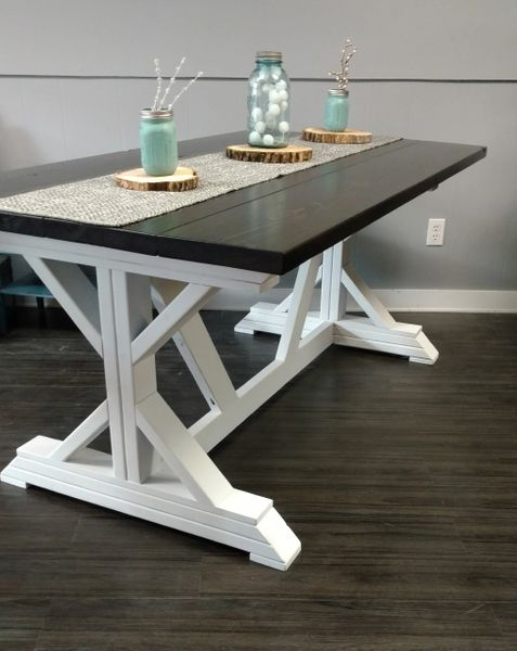 Modern Rustic Reclimed Farmhouse Dining Room Table | Barnboards .