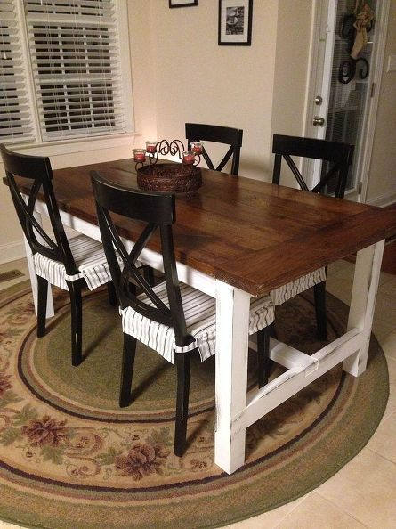 DIY Farm Table on the Cheap! | Diy farmhouse table, Home decor .
