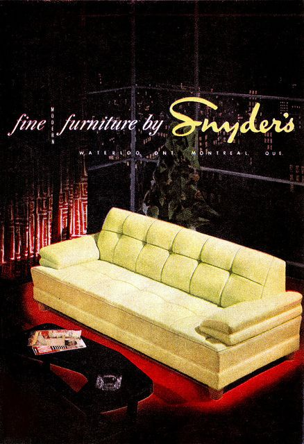 Snyder's (1952) | Retro furniture, Vintage sofa, Patio furniture re