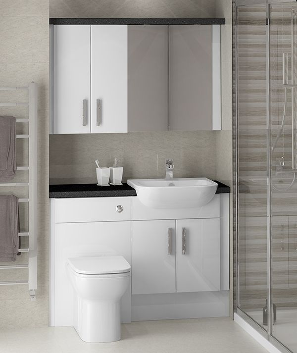 White Gloss Fitted Bathroom Furniture - This cosmopolitan family .