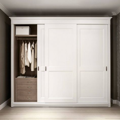 2018 latest solid wood fitted wardrobe doors traditional wardrobe .