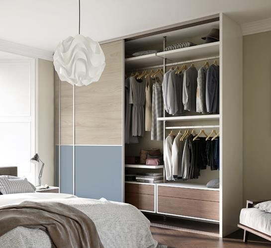 Signature Sliding Doors | Spaceslide | Bedroom built in wardrobe .