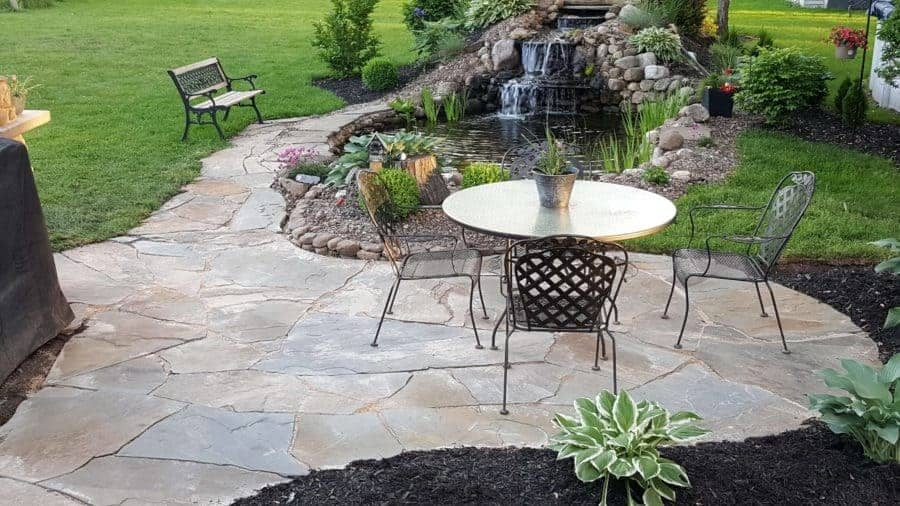 How to Build a Flagstone Patio A Helpful Guide - Backyard Water Gard