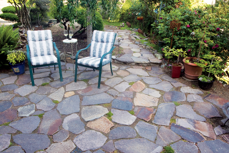 Create your own flagstone pat
