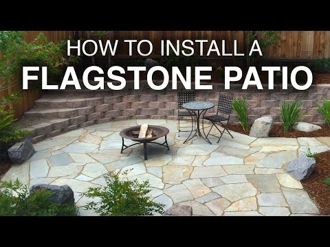 How To Install A Flagstone Patio (Step-by-Step) - YouTu