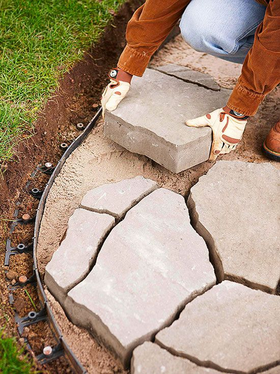 2 Ways to Install a Flagstone Paver Patio | Flagstone pavers .