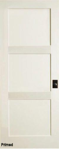Contemporary 3 flat Panel Interior Door (Primed) | Contemporary .