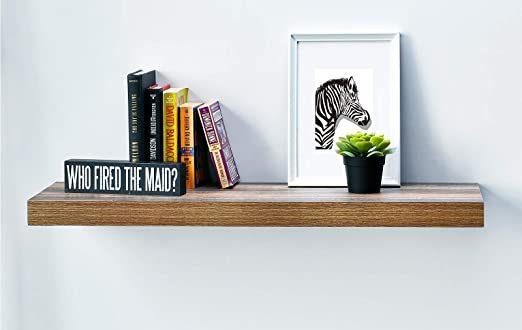 "Amazon.com: WELLAND 12"" Deep Wall Shelves, Floating Wall Shelf ."