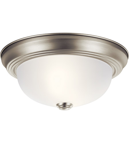 Kichler 8111NI Independence 2 Light 11 inch Brushed Nickel Flush .