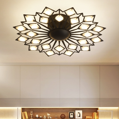 Metal Floral Flush Mount Ceiling Light Modern Multi Light Led .
