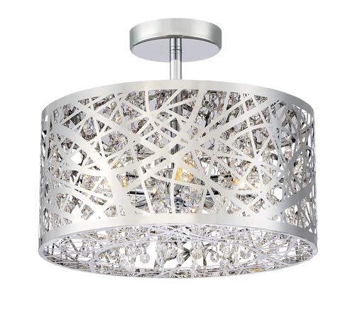 Patriot Lighting® Elegant Home Braylen 5-Light Semi-Flush Mount .