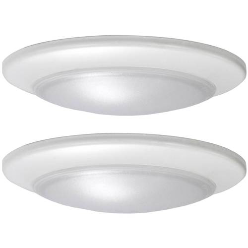 Project Source 2-Pack 7.4-in White Modern/Contemporary LED Flush .