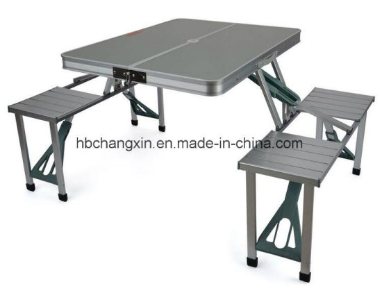 China Aluminium Folding Camping Outdoor BBQ Picnic Table Chairs .
