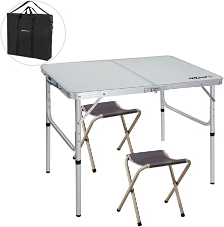 Amazon.com: REDCAMP Folding Camping Table Adjustable, Portable .