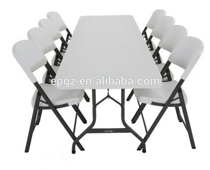 8 People Used Industrial Cafeteria Folding Table and Folding .