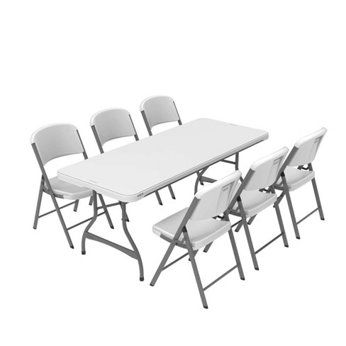 Folding Table With 6 Chairs White - Lifetime : Targ