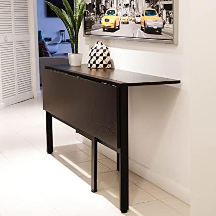 Amazon.com: MIX Folding Dining Table, Espresso: Kitchen & Dini