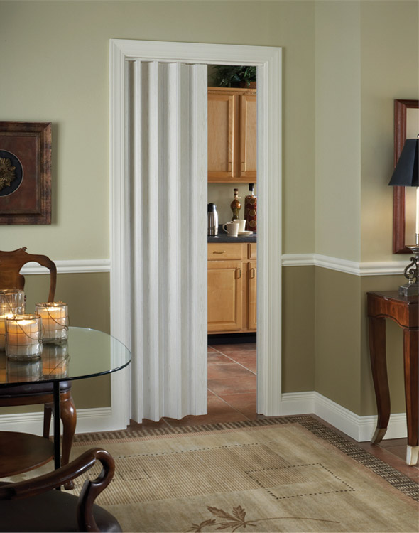 Royale Interior Folding Door with Snap Lock Closure and Quiet Glid