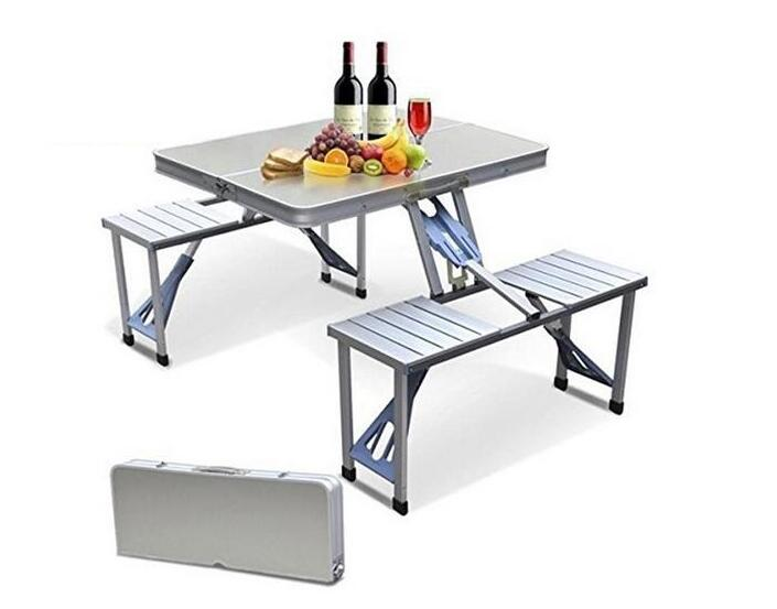 Outdoor Portable Camping Picnic Integrated Folding Table Chair .