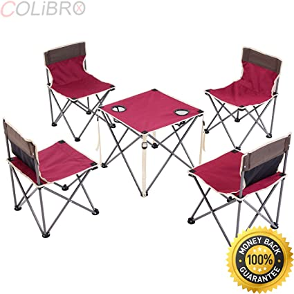 Amazon.com : COLIBROX--Portable Folding Table Chairs Set Outdoor .