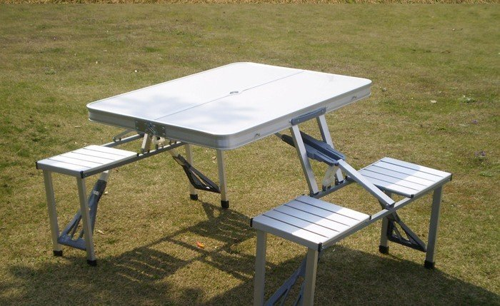 freesgipping outdoor Suitcase type folding table and chairs set .