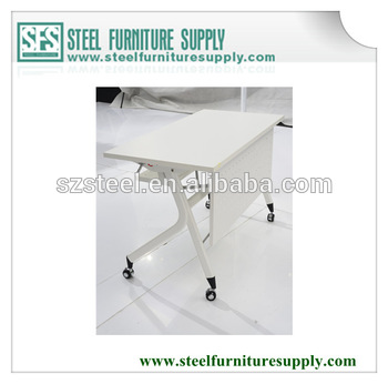 Folding Table With Wheels In Large Size,With Front Panel,Foldable .