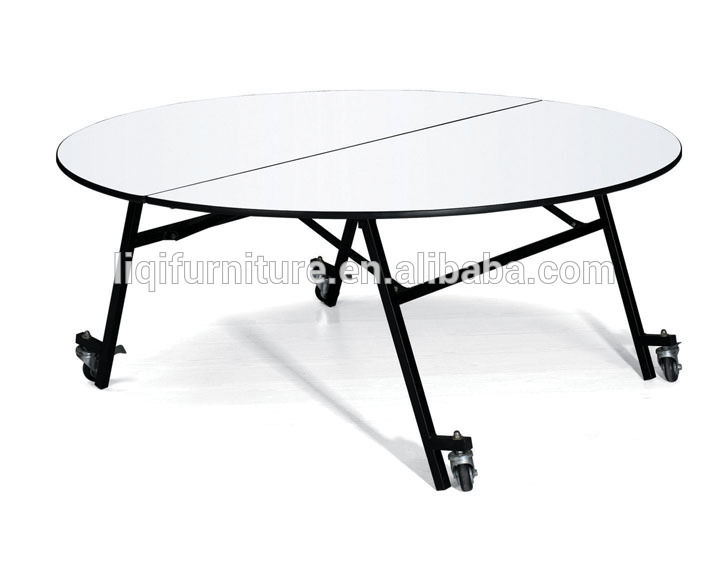 Round Banquet Table With Wheels Qz6091 - Buy Folding Table With .