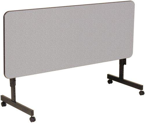 Rectangular Melamine Adjustable Height Flip Top Table w/ Whee