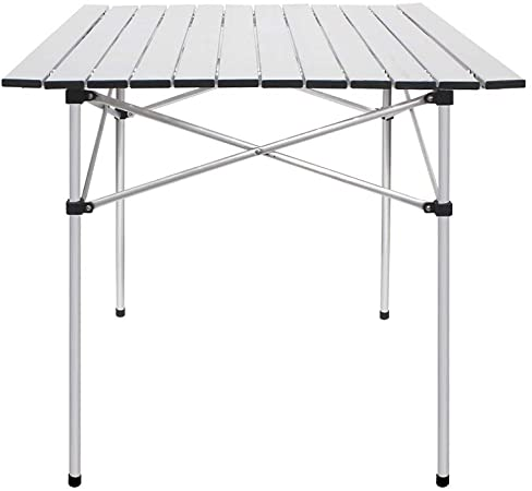 Amazon.com: Deanurs Folding Tables Camping Roll Up Aluminum .