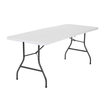 Cosco 6 Foot Centerfold Folding Table, White – BrickSe