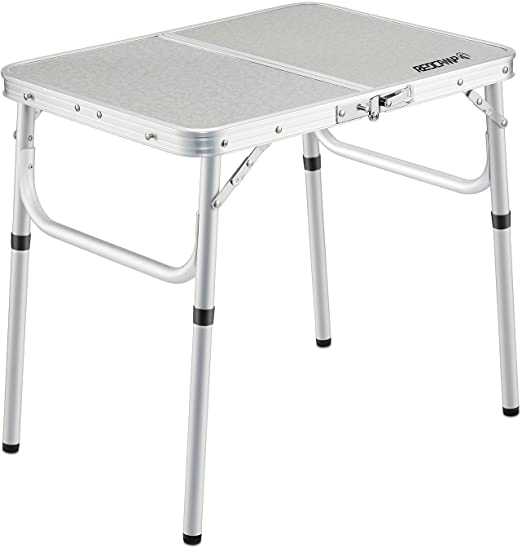 "Amazon.com: REDCAMP Small Folding Table Adjustable Height 23.6""x15 ."