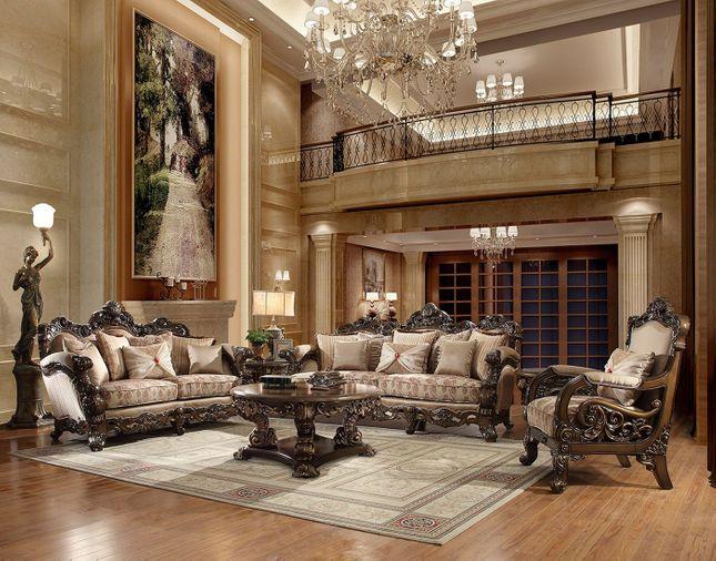 Luxury Formal Living Room Furniture w/ Carved Wood HD-4