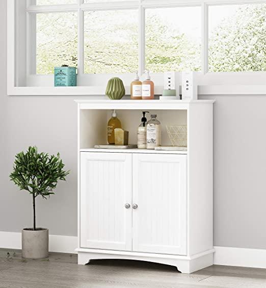 Amazon.com: Spirich Home Bathroom Floor Cabinet with Double .
