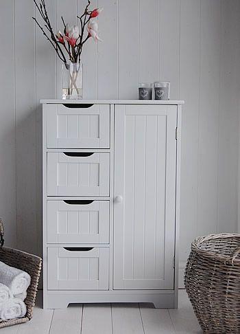Freestanding Bathroom Cabinet - White bathroom Storage .
