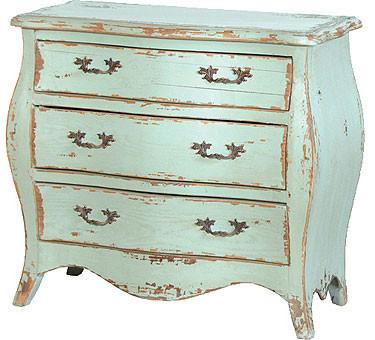 Turquoise Chest of Drawers, French Country Furniture Small 3 .